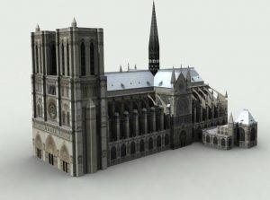3D LOD2 Notre Dame, París