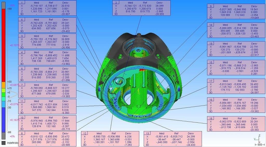 GEOGRAMA - Comprueba las dimensiones de las piezas y estructuras fabricadas obteniendo un mapa de diferencias o un montaje virtual