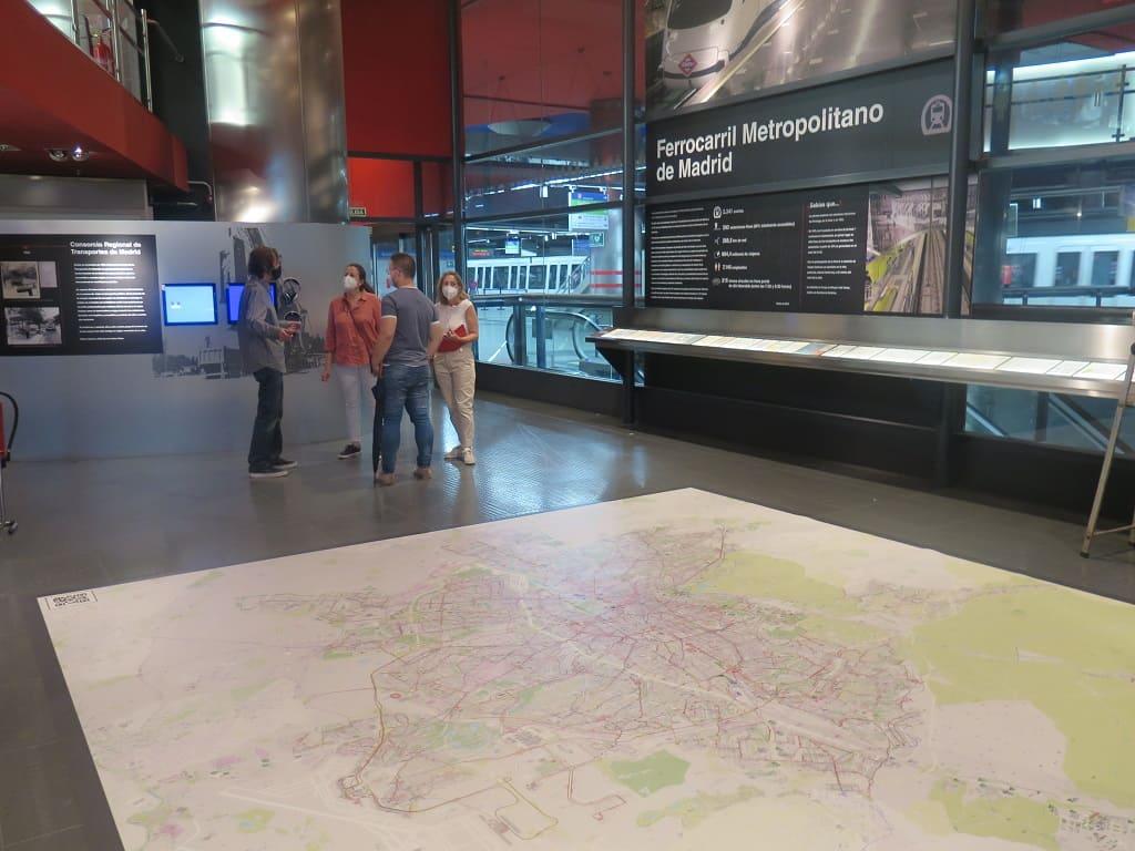 Geograma, en el aula de formación y sala de exposiciones del Consorcio Regional de Transportes de Madrid